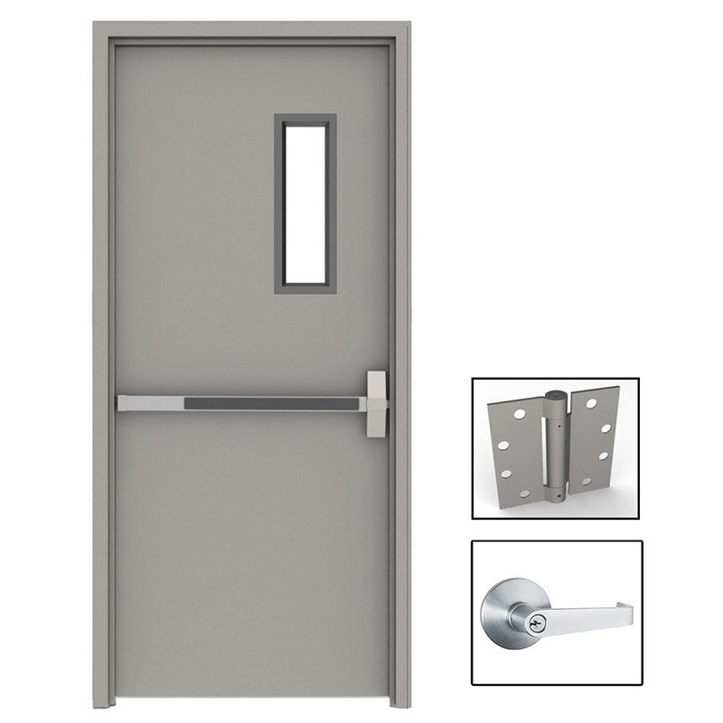 product-Zhongtai-2400mm2400mm Emergency Exit Fire-Rated Security Fireproof Door with Panic Bar-img