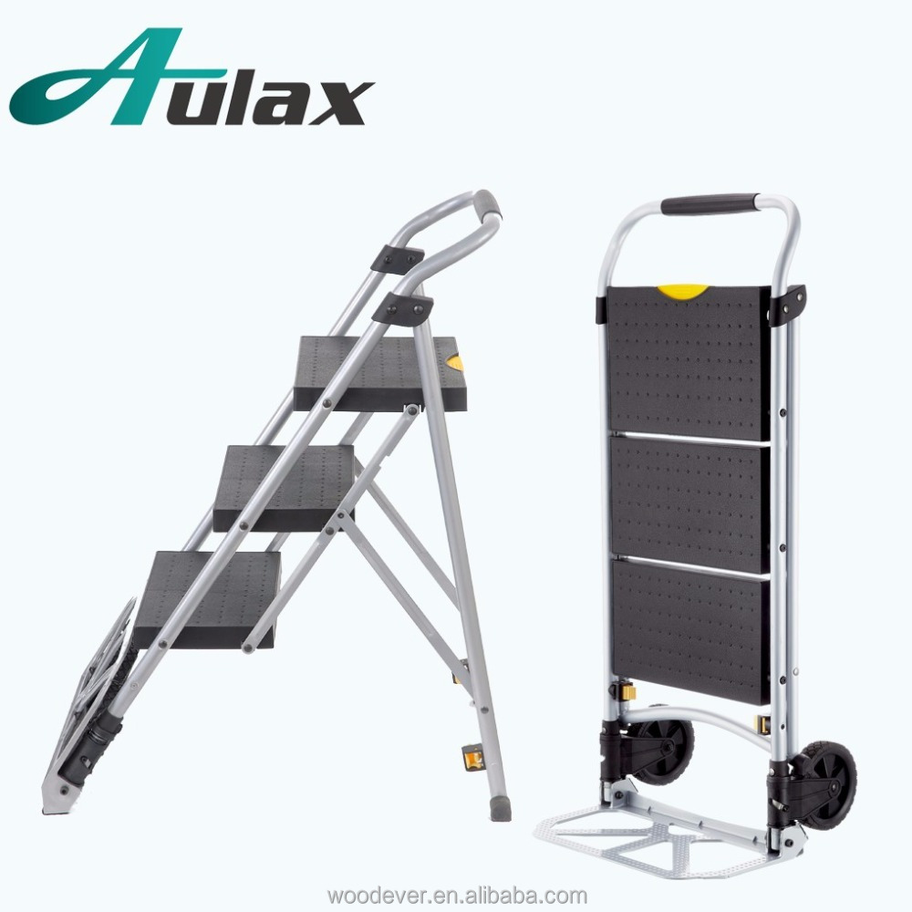 Domestic luggage two wheel folding utility hand cart