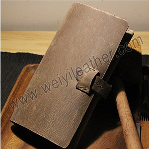Holiday Deals Handmade Small Leather Journal Notebook Diary With Card Holder for Men Women Gifts