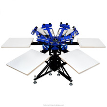 Manual t shirt silk screen printing machine for sale - 6 color