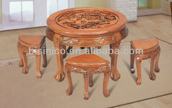 Exquisite Wooden Carved Table Top,Chinese Antique Solid Wooden Dinning Room  Set,Wooden Dinning Table For 4 People   Buy Wooden Carved Dinning Room  Furniture ...