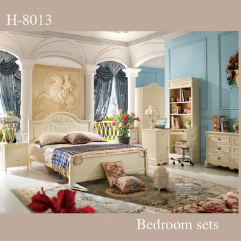 Royal Style Bedroom Furniture/ Simple Design White Bedroom Sets ...