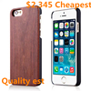Wood Phone Case for iPhone 6 Plastic+Wood Chip Case for iPhone 6 Case with Design Pattern