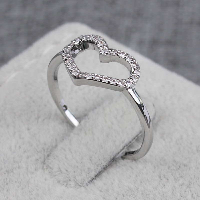 Top Quality Stylish Silver Ring Designs For Girl Heart Shaped ...