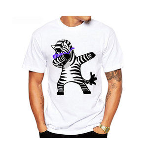 Fashion High Quality Two Tone Printed Crew Neck T-Shirt