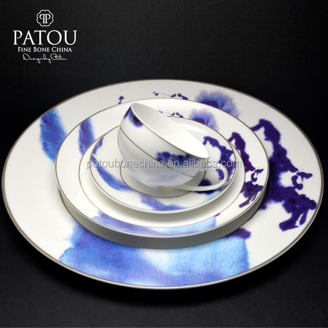 Bulk wholesale ceramic western style dinner plates set blue plate table setting & Buy Cheap China wholesale setting Products Find China wholesale ...