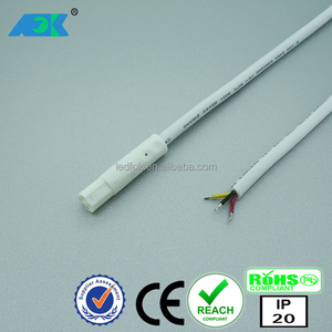 RGB SMD LED plug 3 Pin cabel connector Adapter Strip light RGB 3 pin extension cable wire with XLR dmx connector