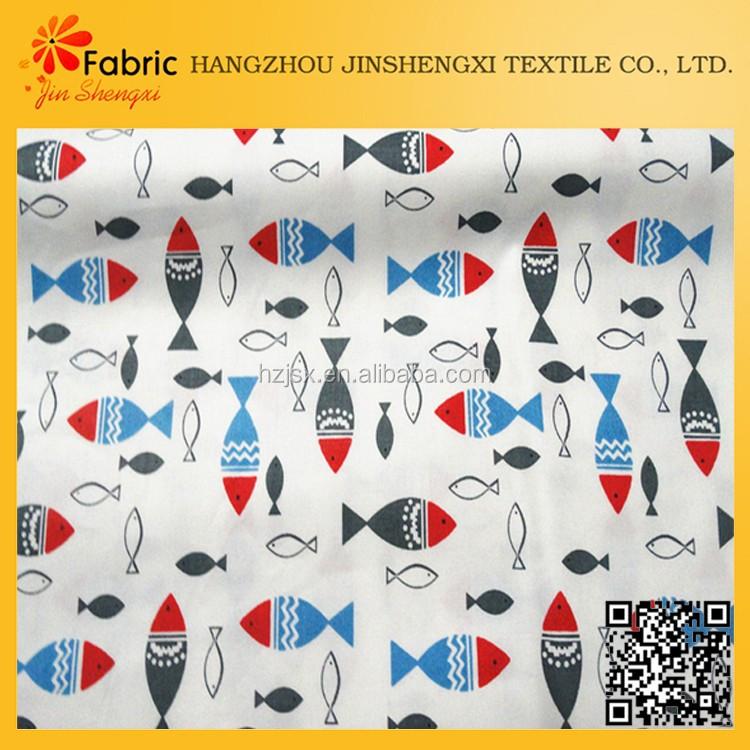nouveau style personnalis coton imprim poissons impression tissu tissus pour doublure id de. Black Bedroom Furniture Sets. Home Design Ideas