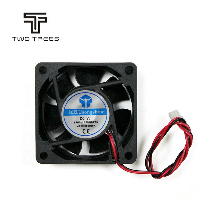 3D Printer parts high airflow 2-pin cooler brushless 60x60x25mm motor <strong>fan</strong> 6025 axial cooling <strong>fan</strong>