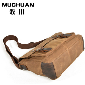 Leisure leather crossbody bags multifunction canvas photography camera bag