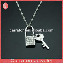 Hot Sell Valentines Gift 925 Silver Key And Lock Lover Pendant