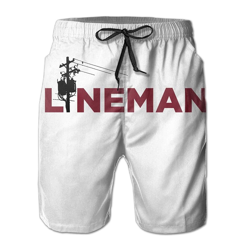 GYang Mens Beach Shorts Corgi Summer Printed Swim Breathable Quick-Drying Shorts Swim Trunks Boardshorts
