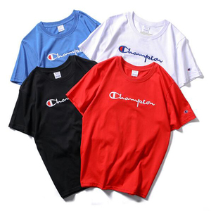 Custom design 100% cotton plain no brand t-shirt embroidery hot sale made in china