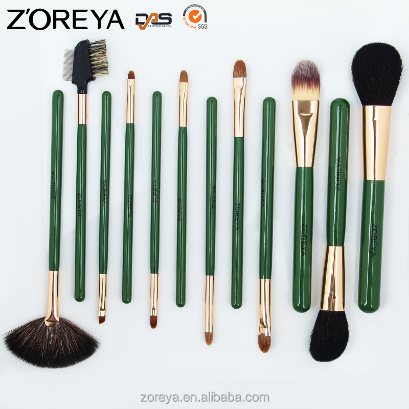 ZP12 ZOREYA 12PCS Professional Private Label Cometics Makeup Brush Set