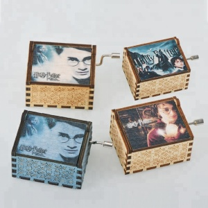 Factory New Design Hot Sale Hand Crank Harry Potter Wood Music Box For Sale