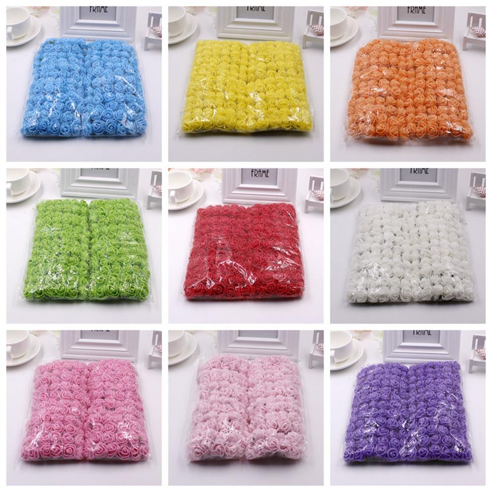 Multi-color Pe Rose Foam Mini Artificial Silk Flowers