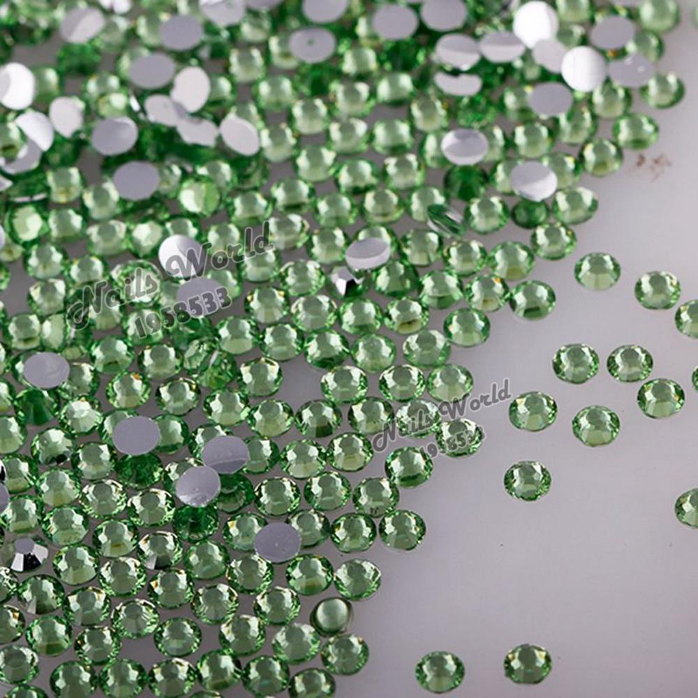 1000 pcs 5mm ss20 Flatback Resin Round Rhinestones Beads Light Green Bling Crystal DIY Nail Art Phone Case No.20