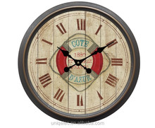 Large retro plastic wall clock for ship