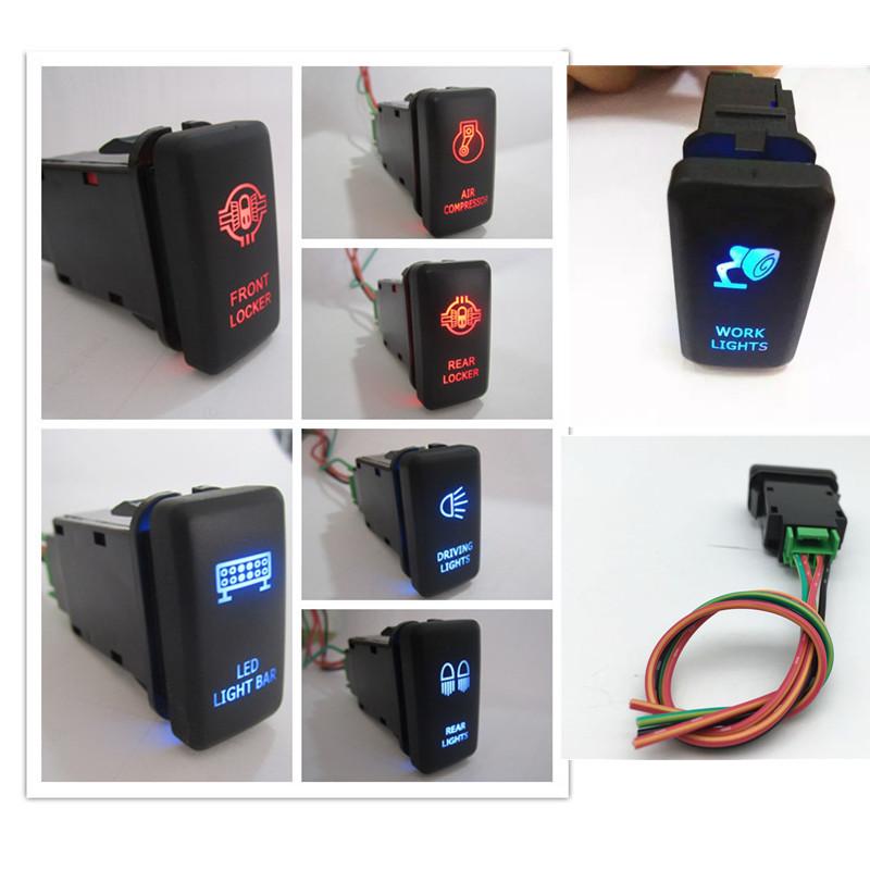 12v Car Auto Dual Led Light Bar On-off Push Switch Work Fog Light Spot Light Button Switch
