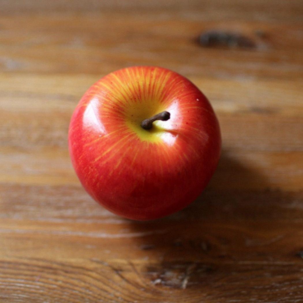 Artificial Fruit Artificial Fake Fruits Vegetables Plastic Lifelike Decorative Fruit Banana Apple dress fruits decorative fruits drink Red Apple 1 Pcs