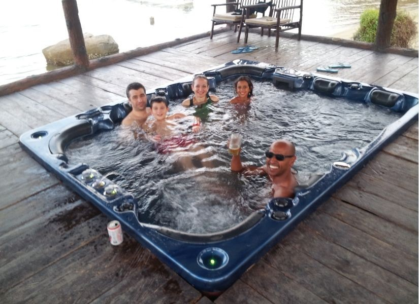 2 person indoor hot tub Pool hot tub combo Outdoor mini pool spa ...