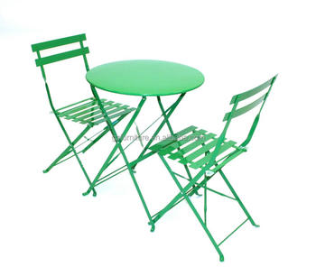 3 Pieces Metal Folding Outdoor Patio Garden Bistro Table And Chairs