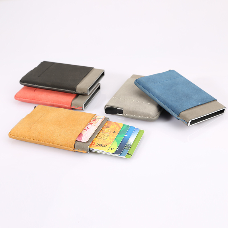 Loostar Small Custom Vintage PU Leather Private Label Card <strong>Wallet</strong>