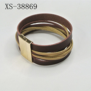 2018 new design fashion leather bracelets for men and women