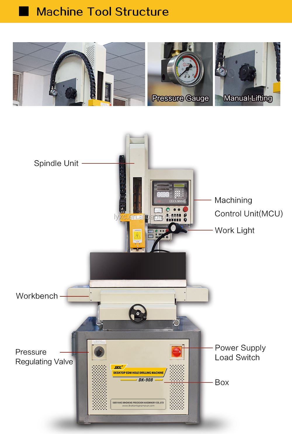 DK-806 DK703 EDM Drilling Machine Small Hole Bench Drilling Machine For 3.0MM Hole