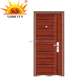 turkey door style simple design steel security door with aluminum stripe SC-S054  sc 1 st  Alibaba & Turkey Door Style Simple Design Steel Security Door With Aluminum ... pezcame.com
