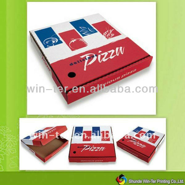White kraft pizza take out box WT-FBX-309