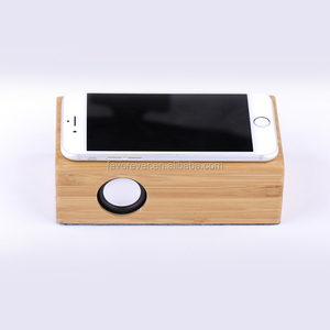 High Quality portable mini bamboo Sapele wood black walnut wood induction magic speaker for android and ios smart phone