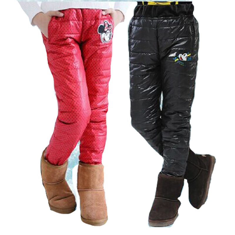 Get Quotations · Children s Winter Pants For Boys Girls Thick Children  Winter Outwear Brand Down Pants High Waisted Outfits 6202cb27c