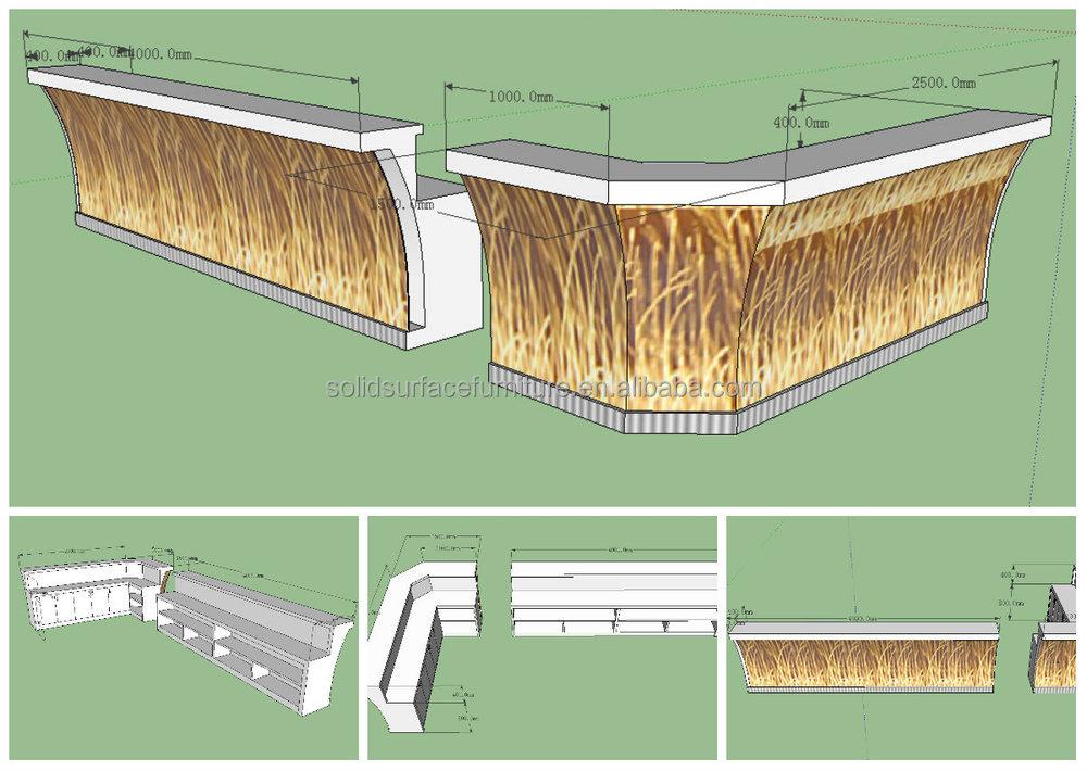 2014 TW Modern Bar Counter / LED Bar Table / LED Furniture