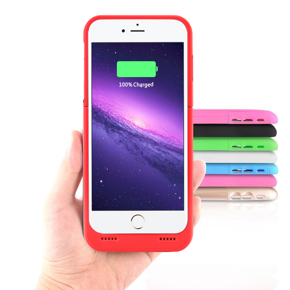 2018 shenzhen new model shockproof protective portable charger battery case for apple iphone 7/iphone 6