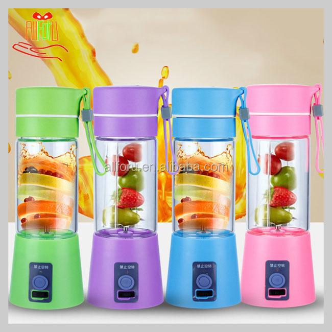 USB 380 ml centrifugeuse Tasse Bouteille électrique Fruit Smoothie maker mixeur Rechargeable