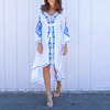 boutique women clothing embroidered white bohemian dress
