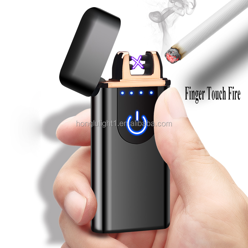 New style portable touch induction charging rechargeable candle lighter bbq lighter
