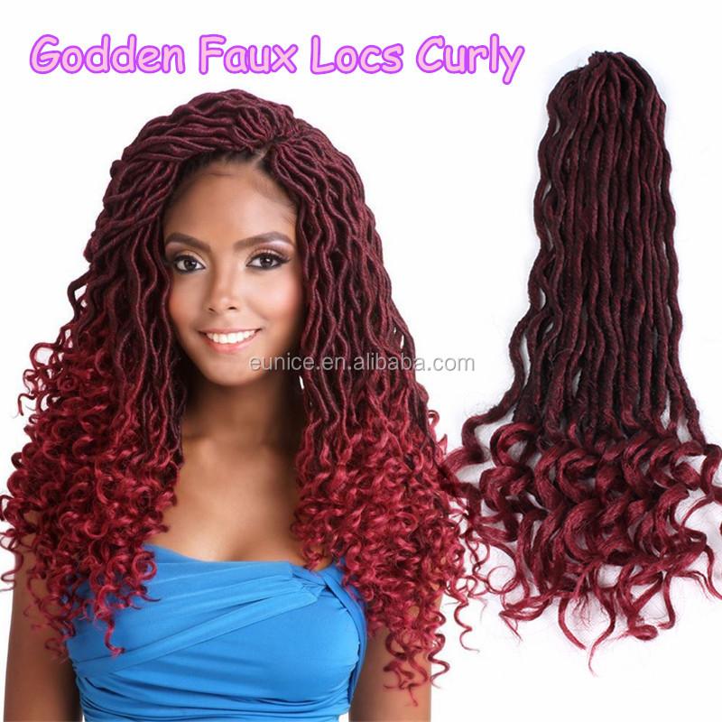 China Suppliers Cheap Curly Faux Locs Crochet Hair Dreadlocs