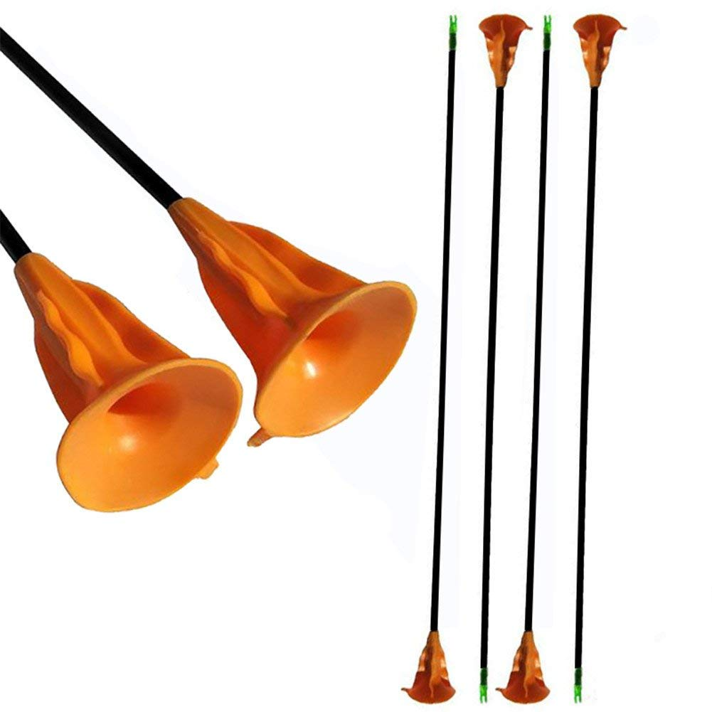 HRCHCG 6pcs Child Practice Arrow Suction Cup Arrow Yellow 68cm Recurve Bow Compound Bow Boy and Girl Kids Beginer Arrow Target Outdoor Games Arrow Archery Bow Hunting Shooting CS Game