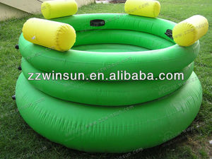 Air sealed PVC inflatable floating chair both for child and adult 4 persons