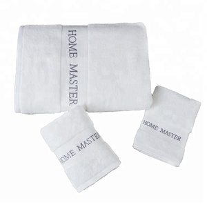 Hot sale luxury 5 star hotel bath shower 100 cotton white color towel set 3 pcs for hotel used towels