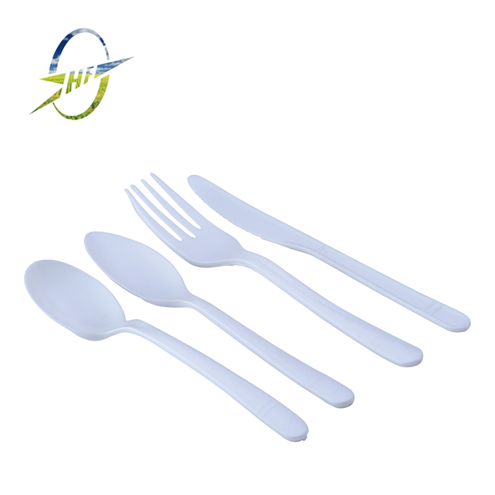 "PLA biodegradable fork 6"" for fruit and cake"