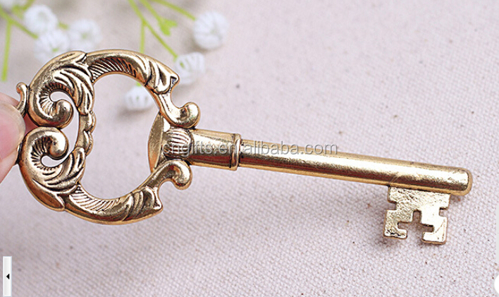 Wholesale Ywbeyond Key to My Heart Antique Gold Key Bottle Opener Wedding Favours