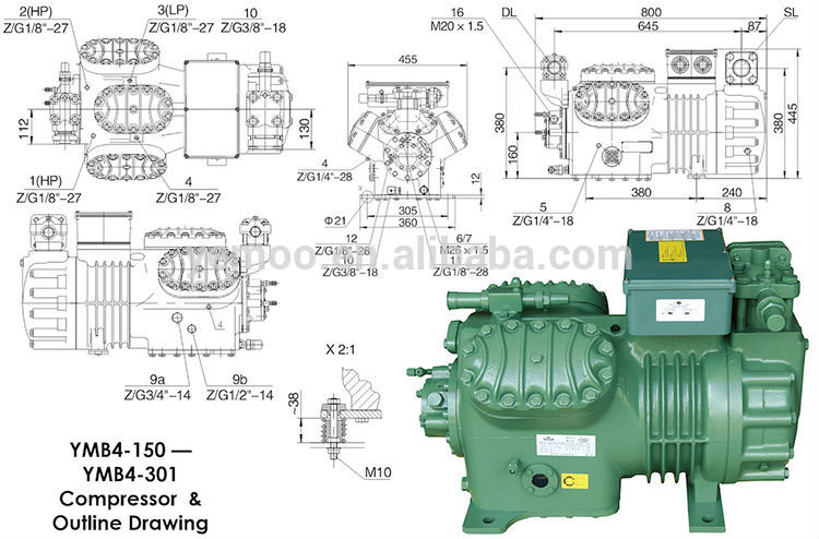 types of refrigeration compressors. yemoo semi-hermetic piston refrigeration 20hp bitzer open type compressor for cool room types of compressors i