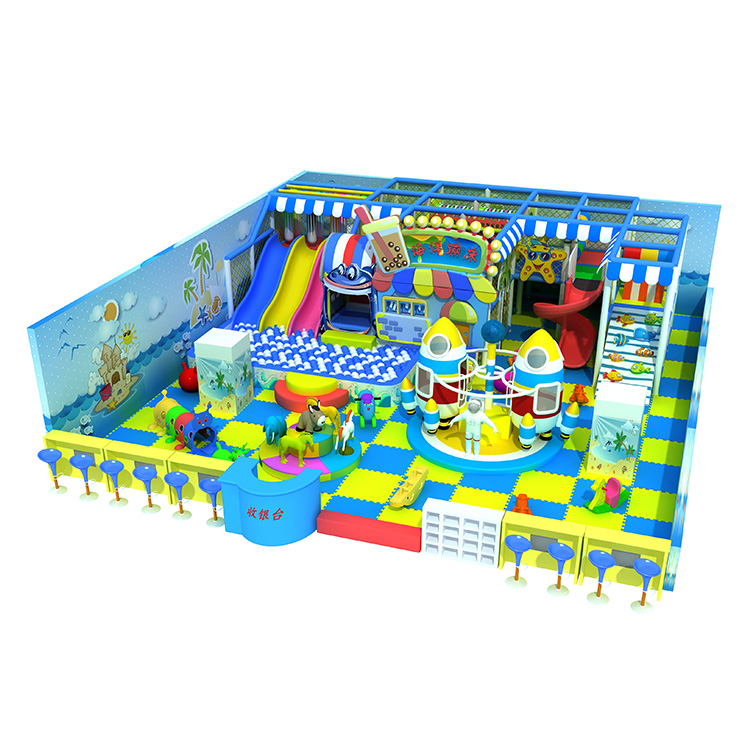 Ocean theme indoor jumping soft playground sea ball pool playground equipment for sale