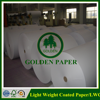 58gsm 61gsm 64gsm 70gsm LWC paper/light weight coated paper for gif packaging paper in sheet or roll