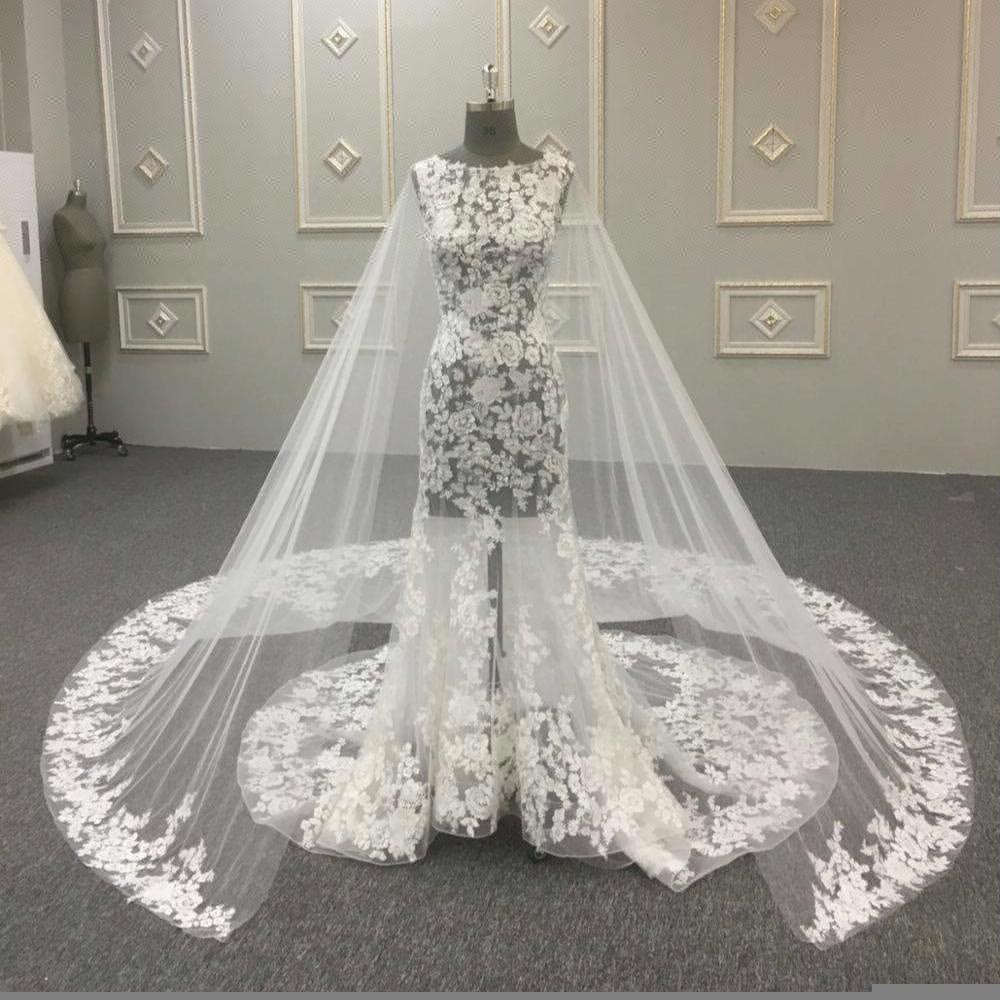 Alibaba seksi trumpet mermaid lace wedding dress 2017 HA697