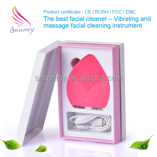 Best Quality Electric Anion Silicone Facial Deep Clean Brush electric face cleanser
