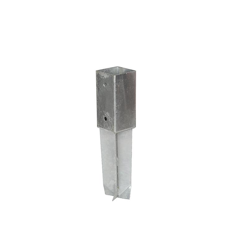 Low carbon steel concrete post anchor